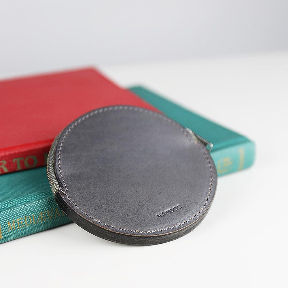 HANDOS 復古質樸感圓形零錢包 - B