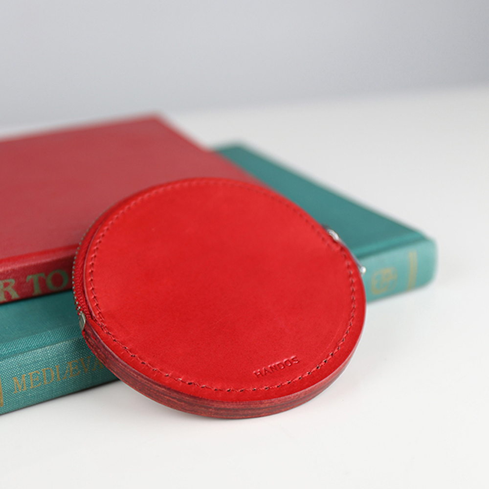 HANDOS|復古質樸感圓形零錢包 - B