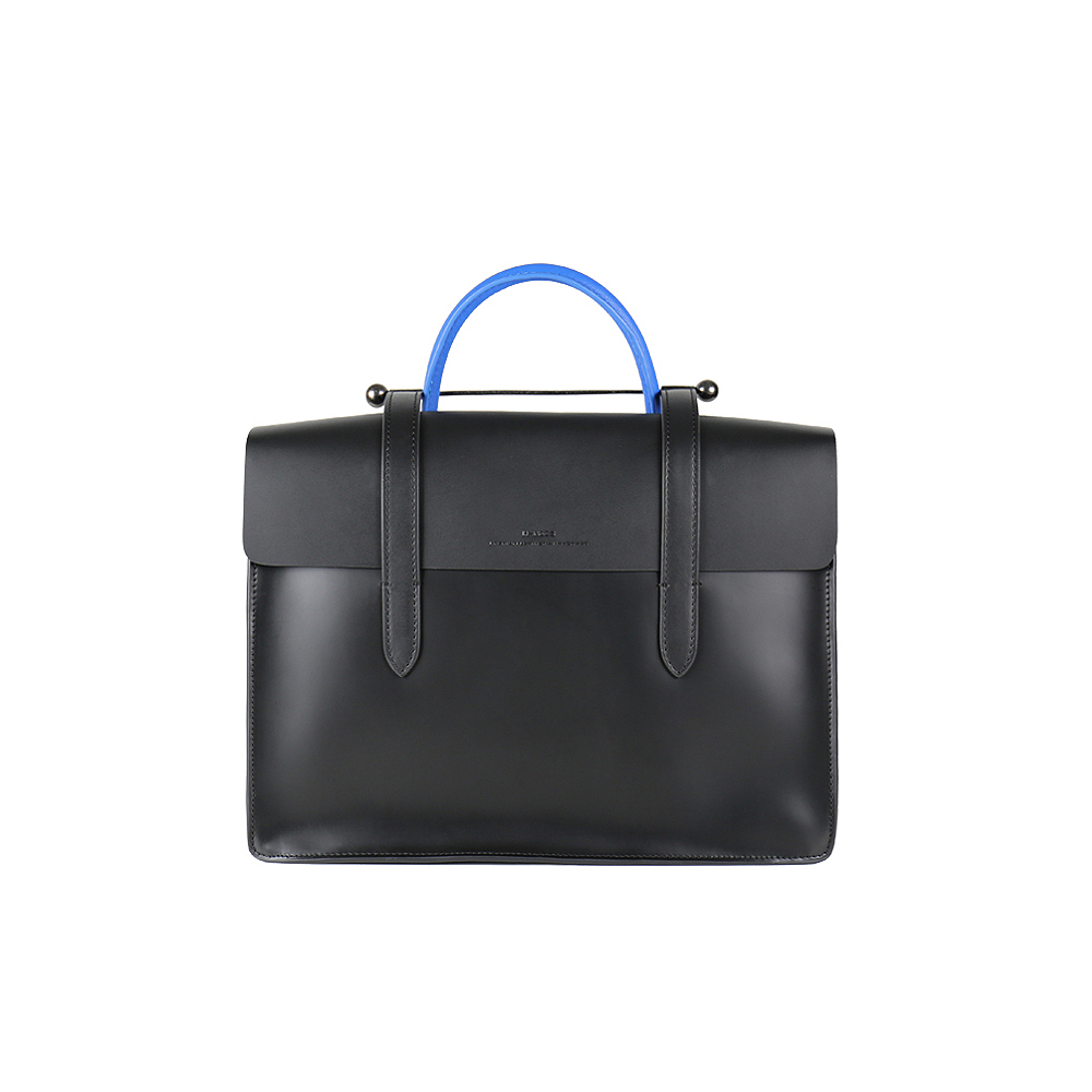 HANDOS|Musician 皮革音譜手提包 - 紳士藍