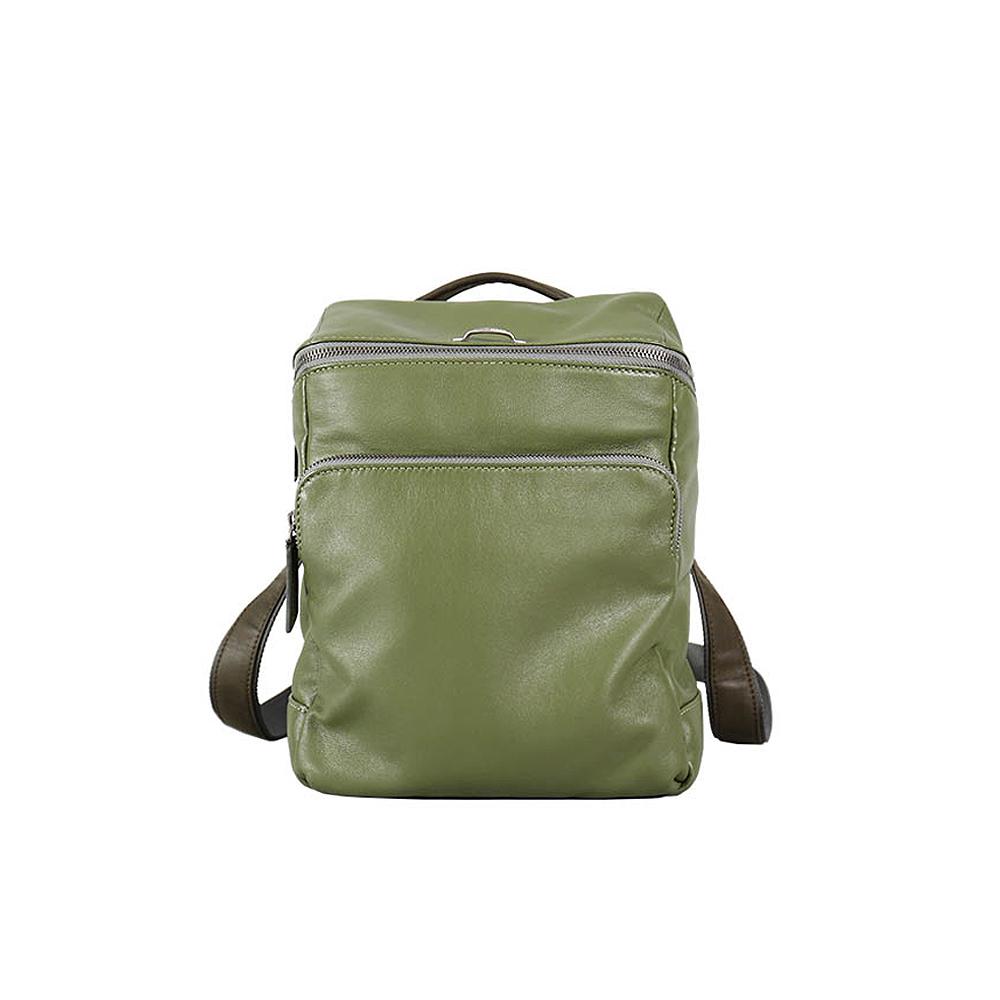 HANDOS|Cosmopolitan 輕巧羊皮時尚後背包 - 抹茶綠