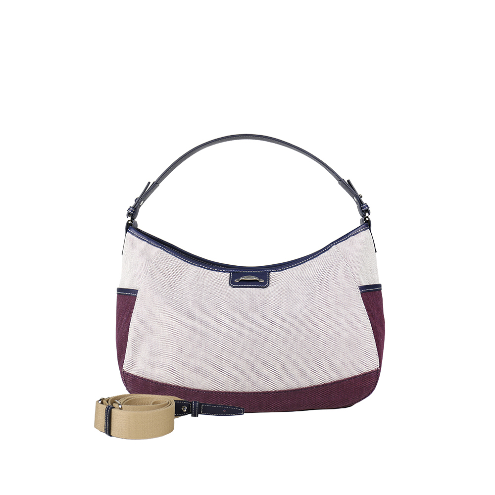 HANDOS|Meg March 帆布側背/肩背兩用包 - 楓葉紅