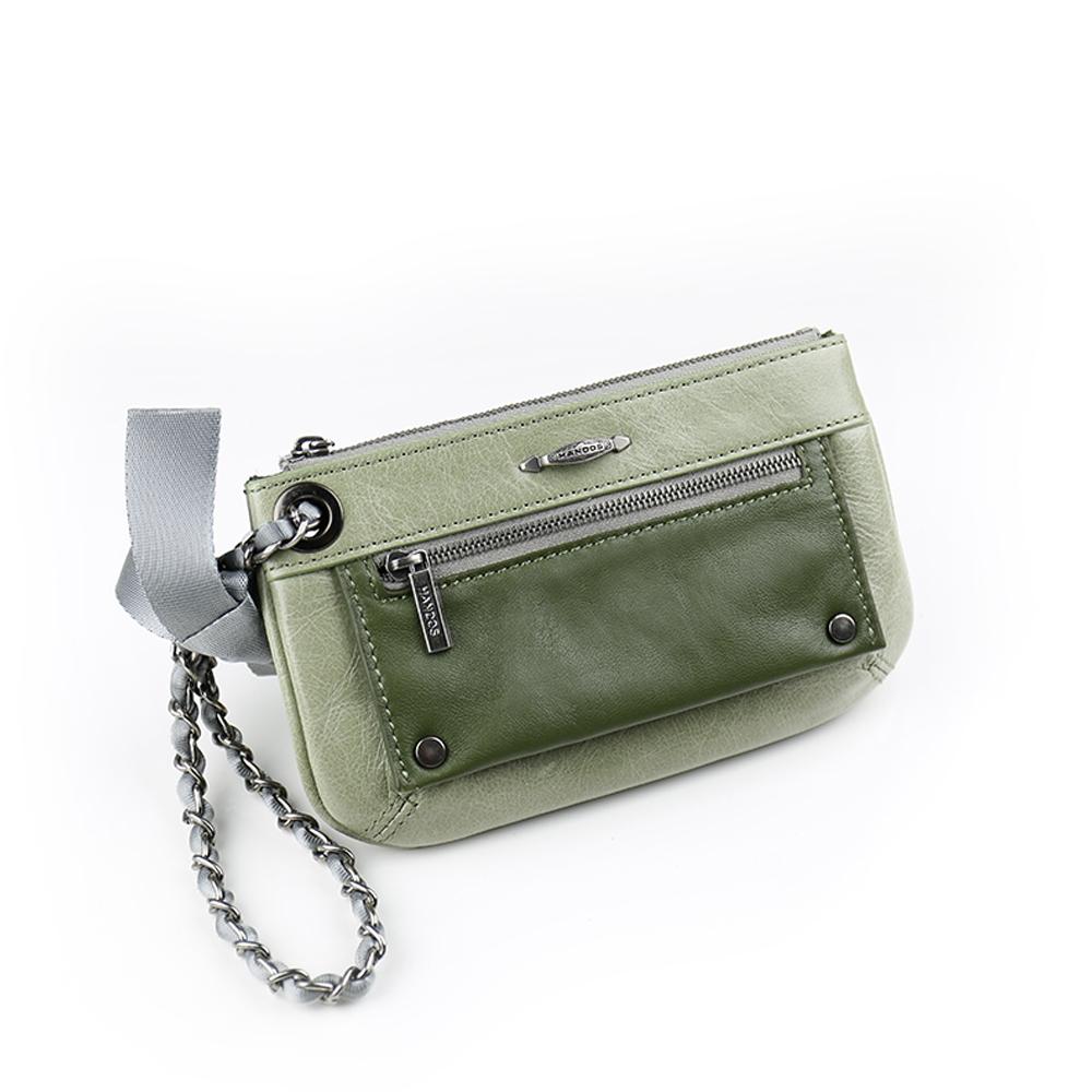 HANDOS Bracelet 蝴蝶結手拿包 - 草綠