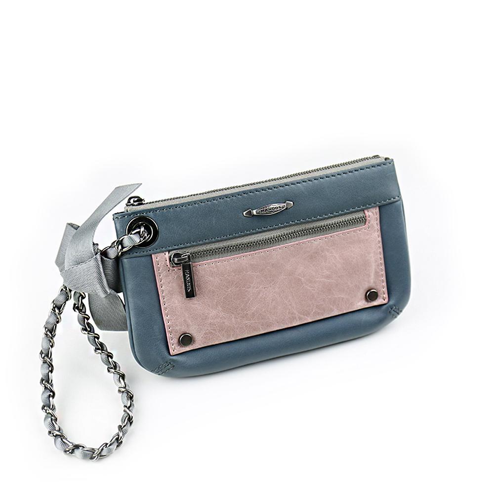 HANDOS Bracelet 蝴蝶結手拿包 - 藍灰