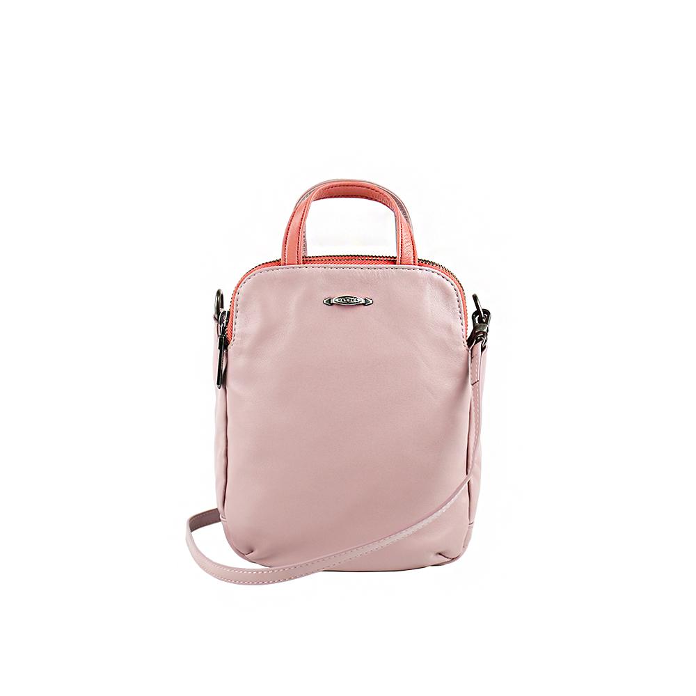 HANDOS|Speakeasy 水洗羊皮迷你肩背包 - 粉紅
