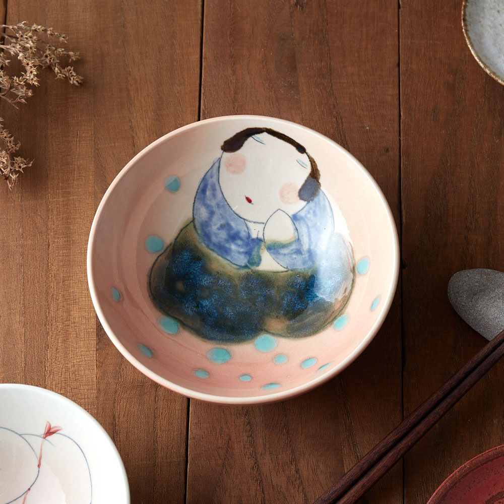 吳仲宗|胖太太系列 - 大碗 - 露珠點點