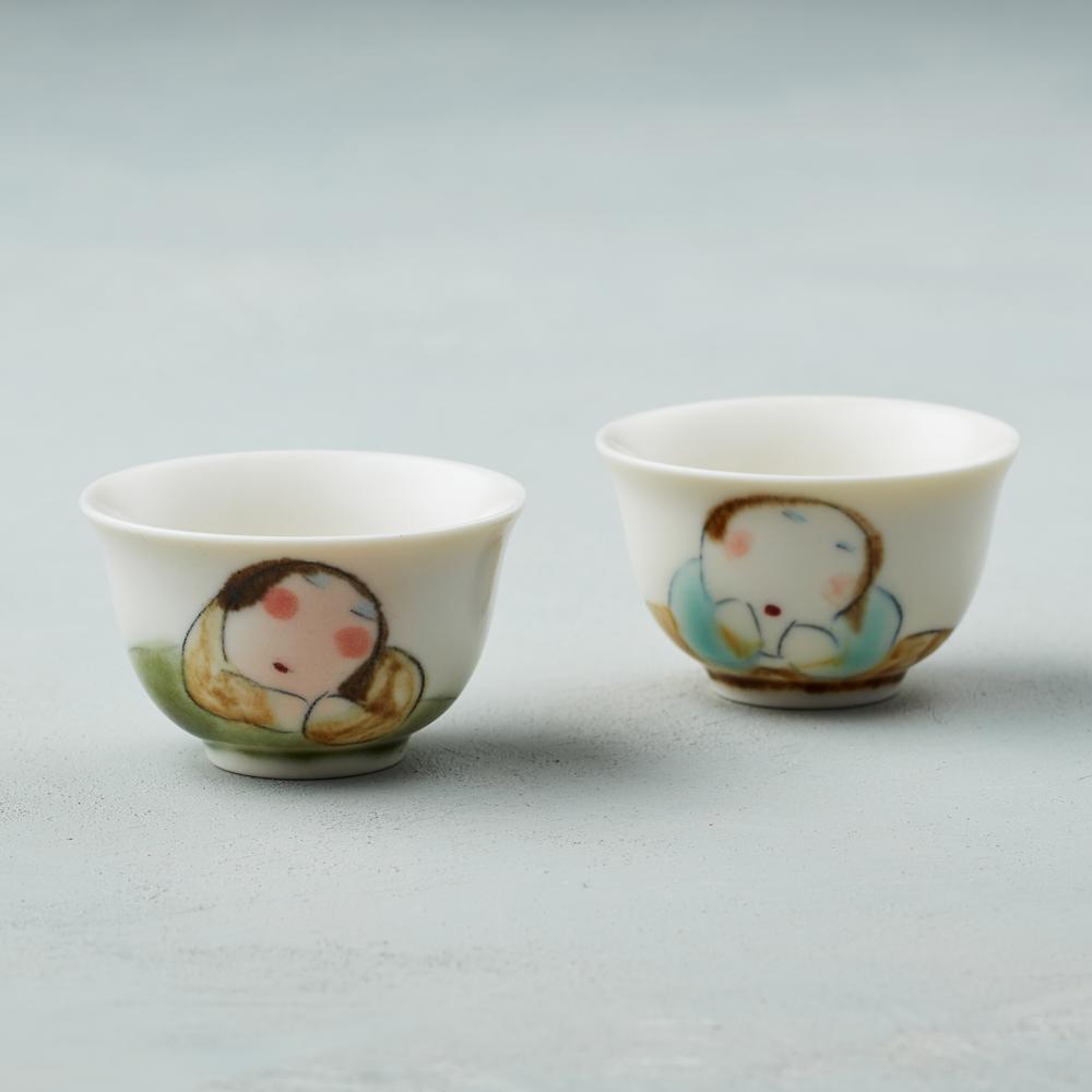 吳仲宗|胖太太系列 - 小杯-茶香酒詩 (雙件組)