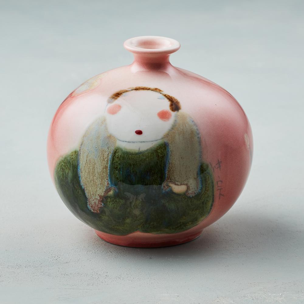 吳仲宗|胖太太系列 - 胖瓶 - 桃花紅 (核桃棕衣)