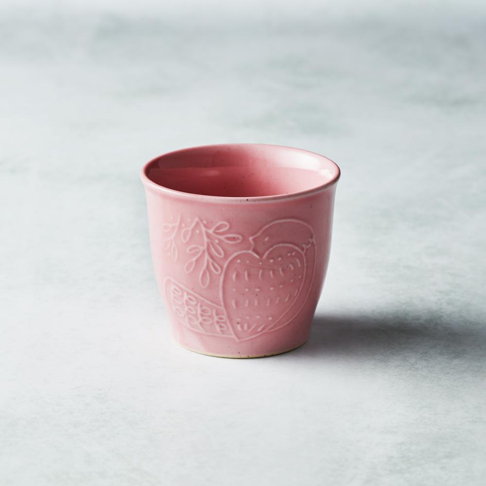 石丸波佐見燒|森之歌陶杯 - 櫻粉