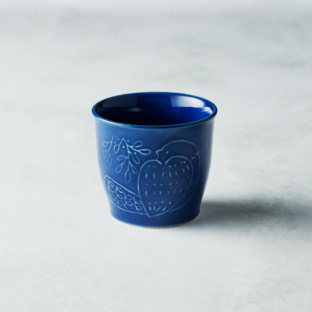 石丸波佐見燒 森之歌陶杯 - 湛藍