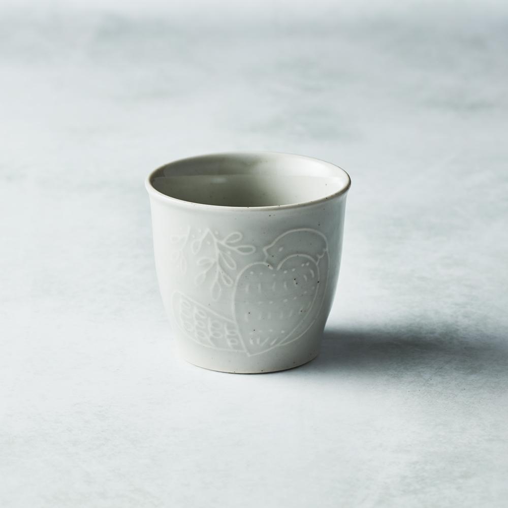 石丸波佐見燒 森之歌陶杯 - 薄霧灰