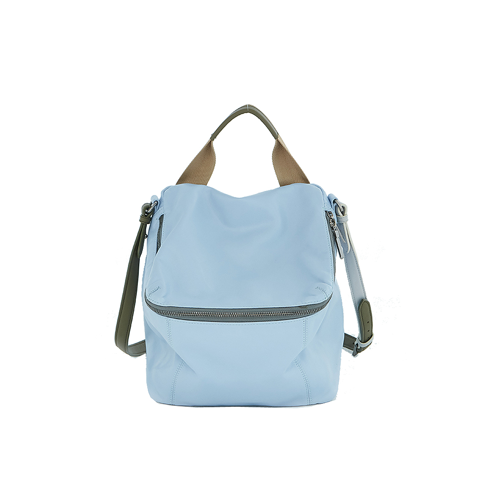 HANDOS|Pimm's 輕便羊皮休閒肩背包 - 粉藍