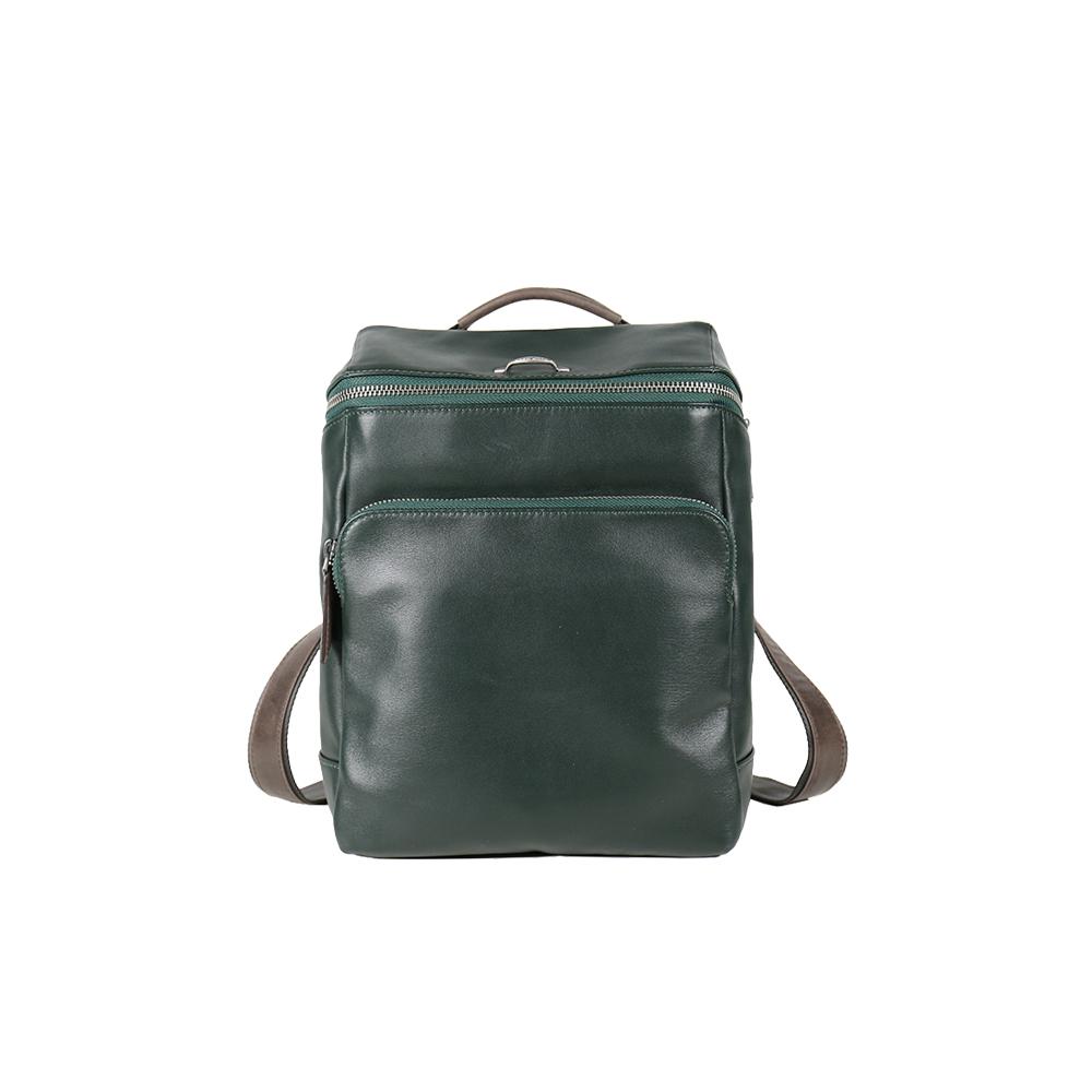 HANDOS|Cosmopolitan 輕巧羊皮時尚後背包 - 墨綠