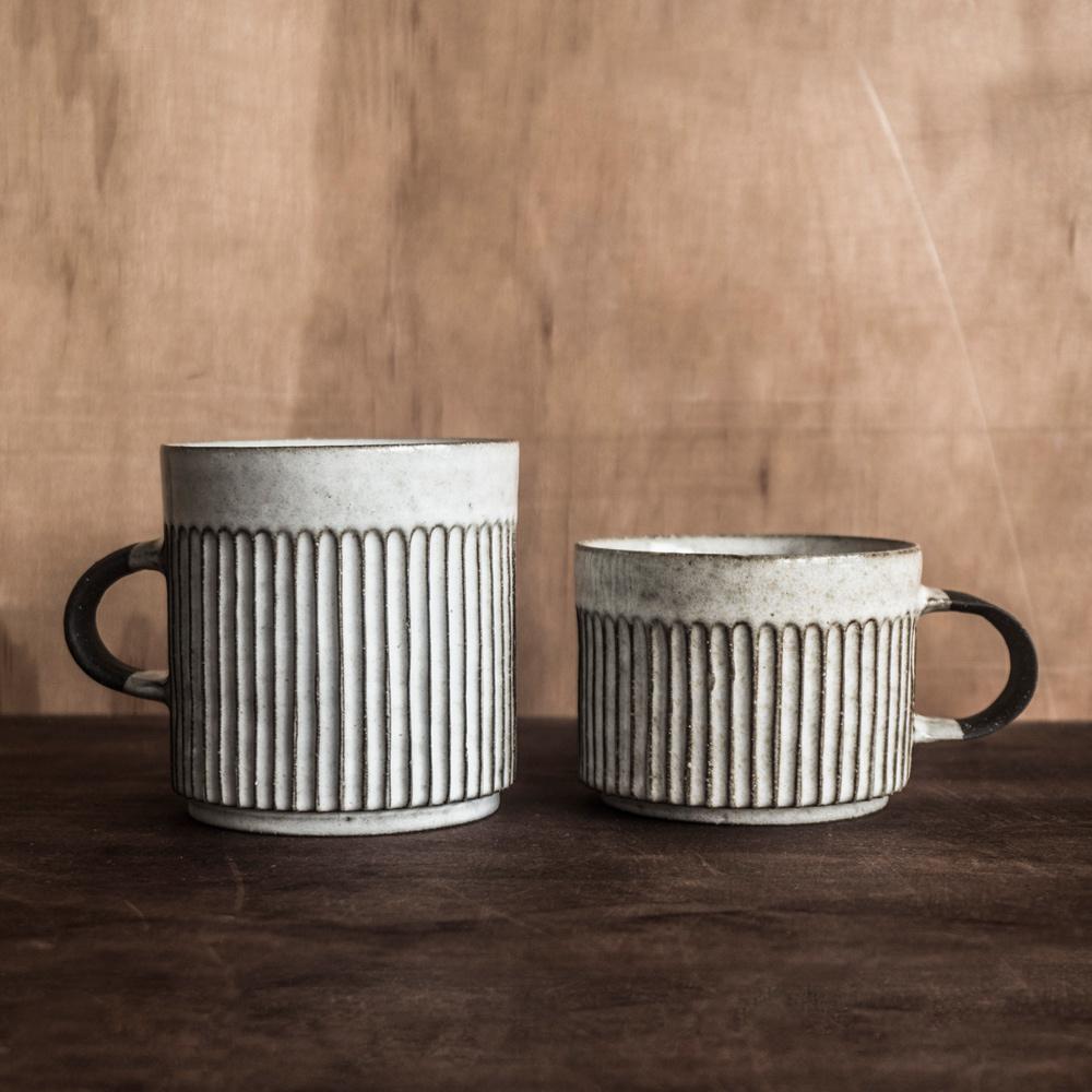 上作美器|無我系列 - 直紋馬克對杯組(兩件組)
