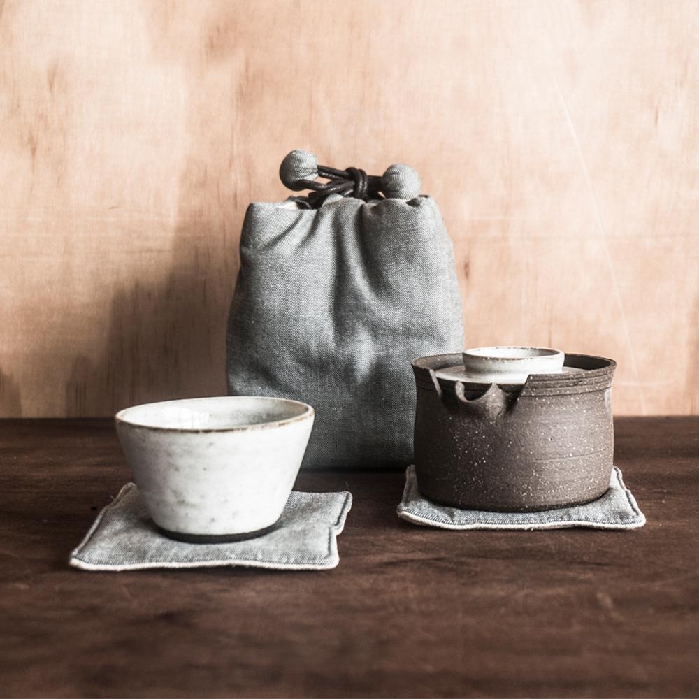 上作美器 獨享時光易泡壺隨行組(兩件式) - 附布袋