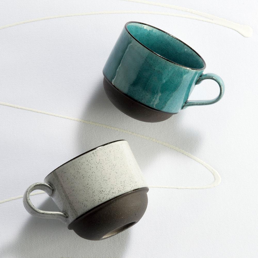 日本AWASAKA美濃燒|清風時雨咖啡杯組 (2件式)
