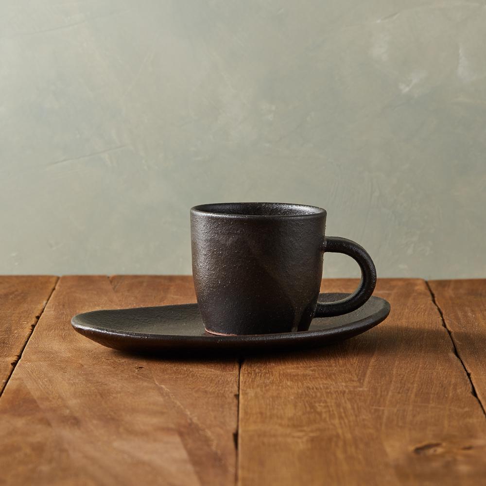 丸伊信樂燒|夜風咖啡杯碟組(2件式)