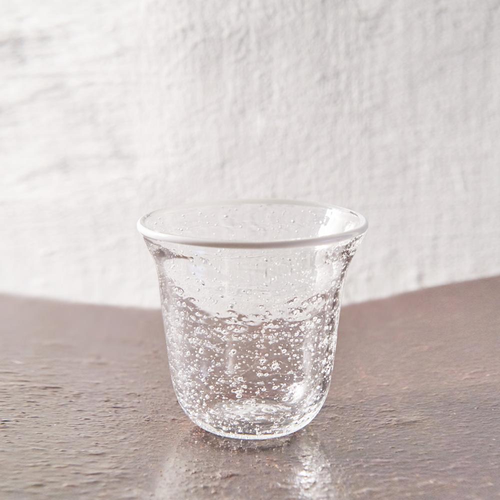 3,co|手工氣泡感玻璃杯(小) - 白邊