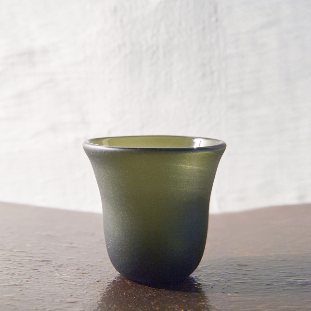 3,co|手工彩色玻璃杯(小) - 綠