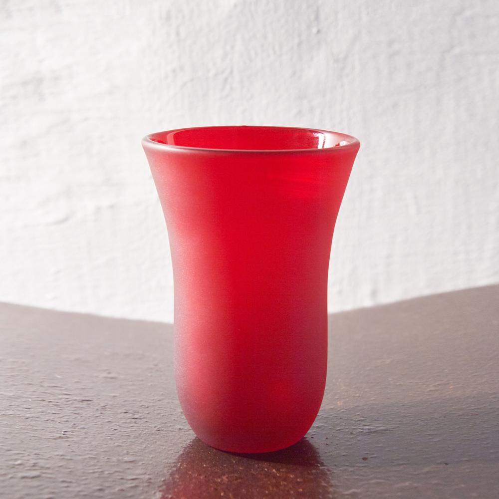 3,co|手工彩色玻璃杯(大) - 紅