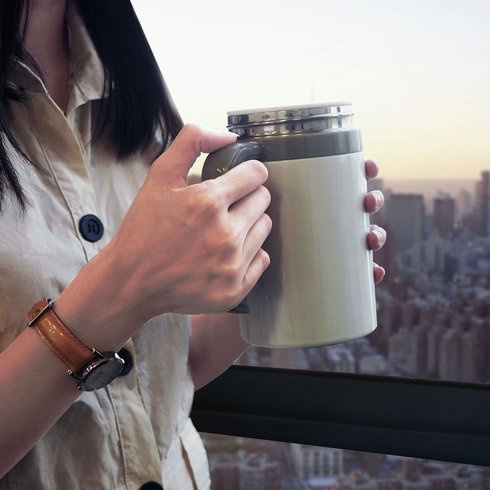 SWANZ|陶瓷馬克杯(2色)- 500ml (日本專利/品質保證) - 棕色
