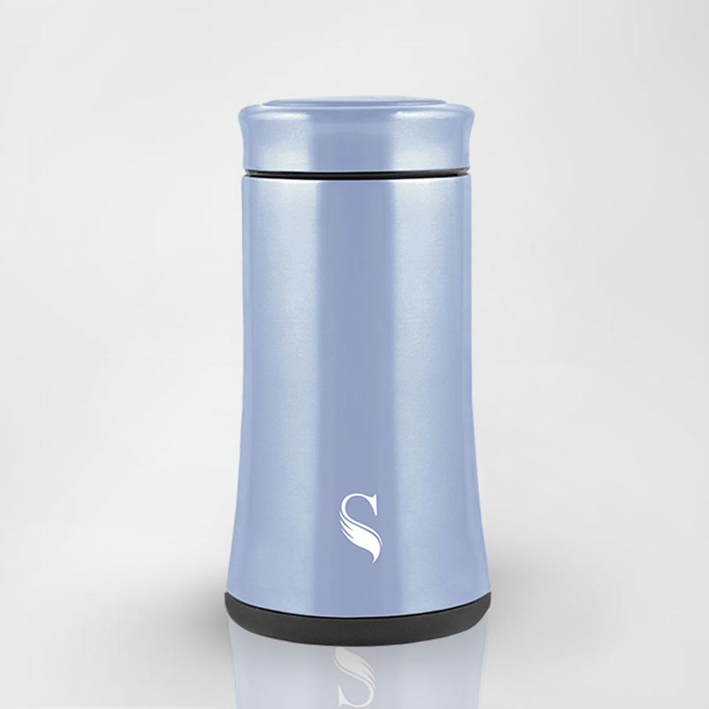 SWANZ|陶瓷寬底保溫杯(4色)- 300ml (日本專利/品質保證) - 藍色