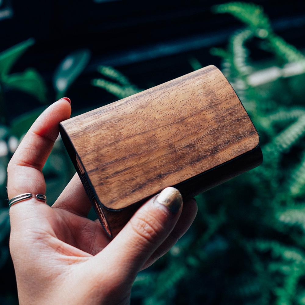 PARSEC 樹革柚木名片夾