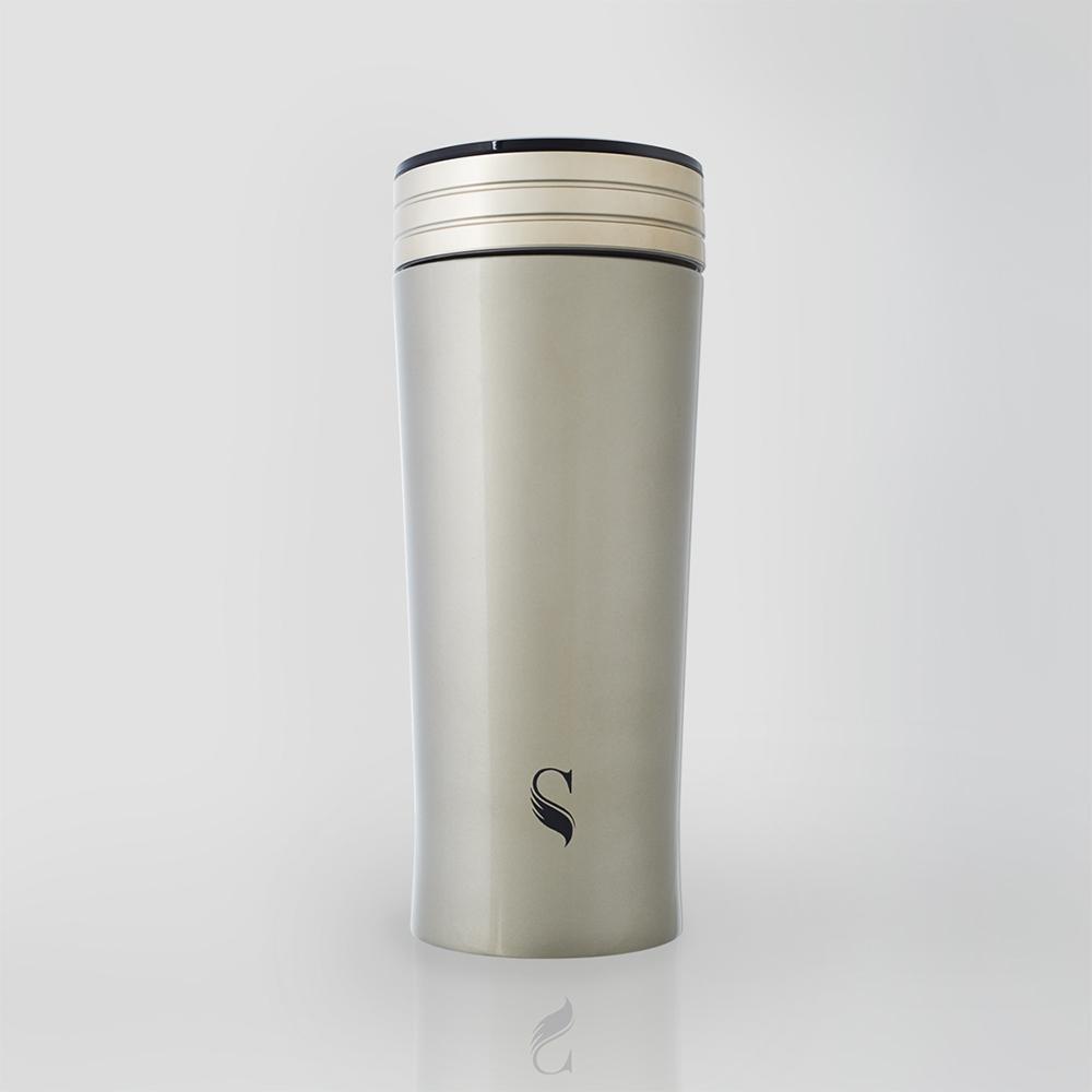 SWANZ|風格陶瓷保溫杯(2色)- 300ml (日本專利/品質保證) - 銀色