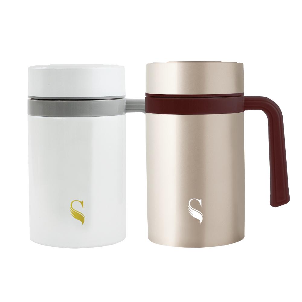 SWANZ|陶瓷保溫馬克杯(2色)- 480ml- 雙件優惠組 (日本專利/品質保證)