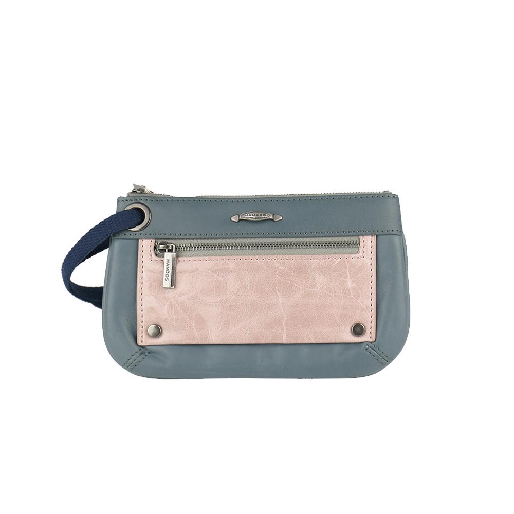 HANDOS|Bracelet 浪漫輕便手拿包 - 藍灰