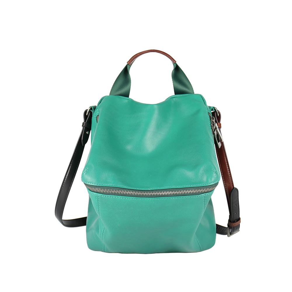 HANDOS|New Pimm's 輕便羊皮休閒肩背包 - 熱帶綠