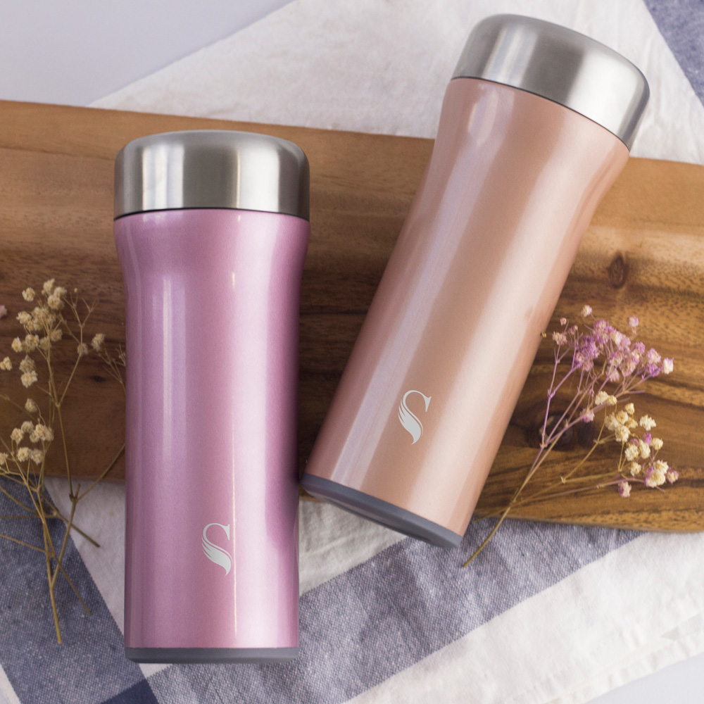 SWANZ|火炬陶瓷保溫杯(2色)- 400ml(國際品牌/品質保證) - 簡約紫