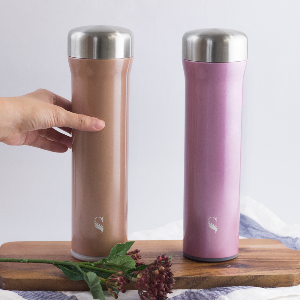 SWANZ|火炬陶瓷保溫杯(2色)- 550ml(國際品牌/品質保證) - 簡約紫