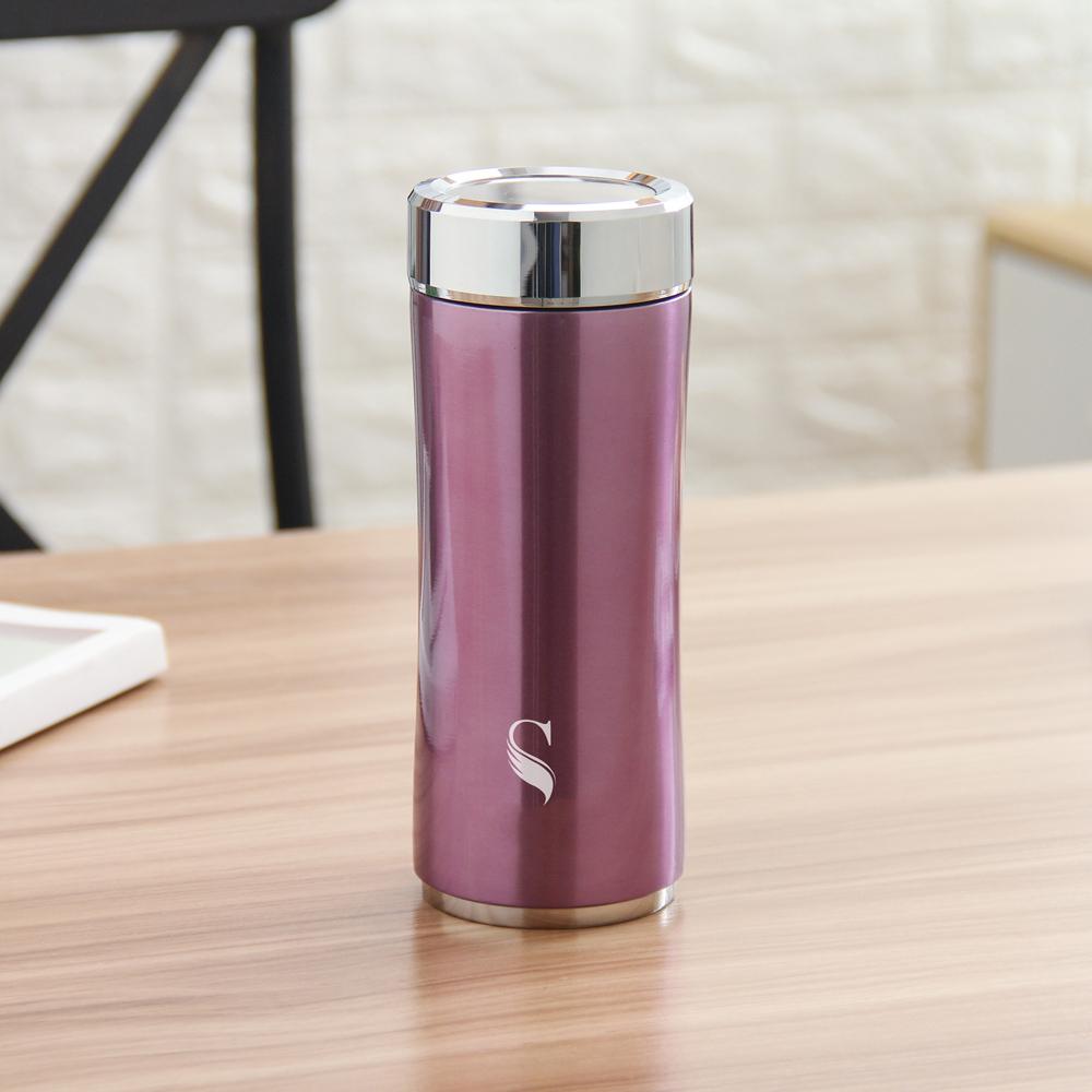 SWANZ|晶粹陶瓷保溫杯(2色) - 360ml (國際品牌/品質保證) - 粉紫色