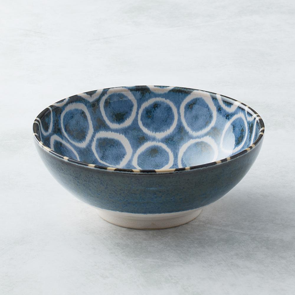 日本AWASAKA美濃燒|筆青釉繪大碗 - 百丸