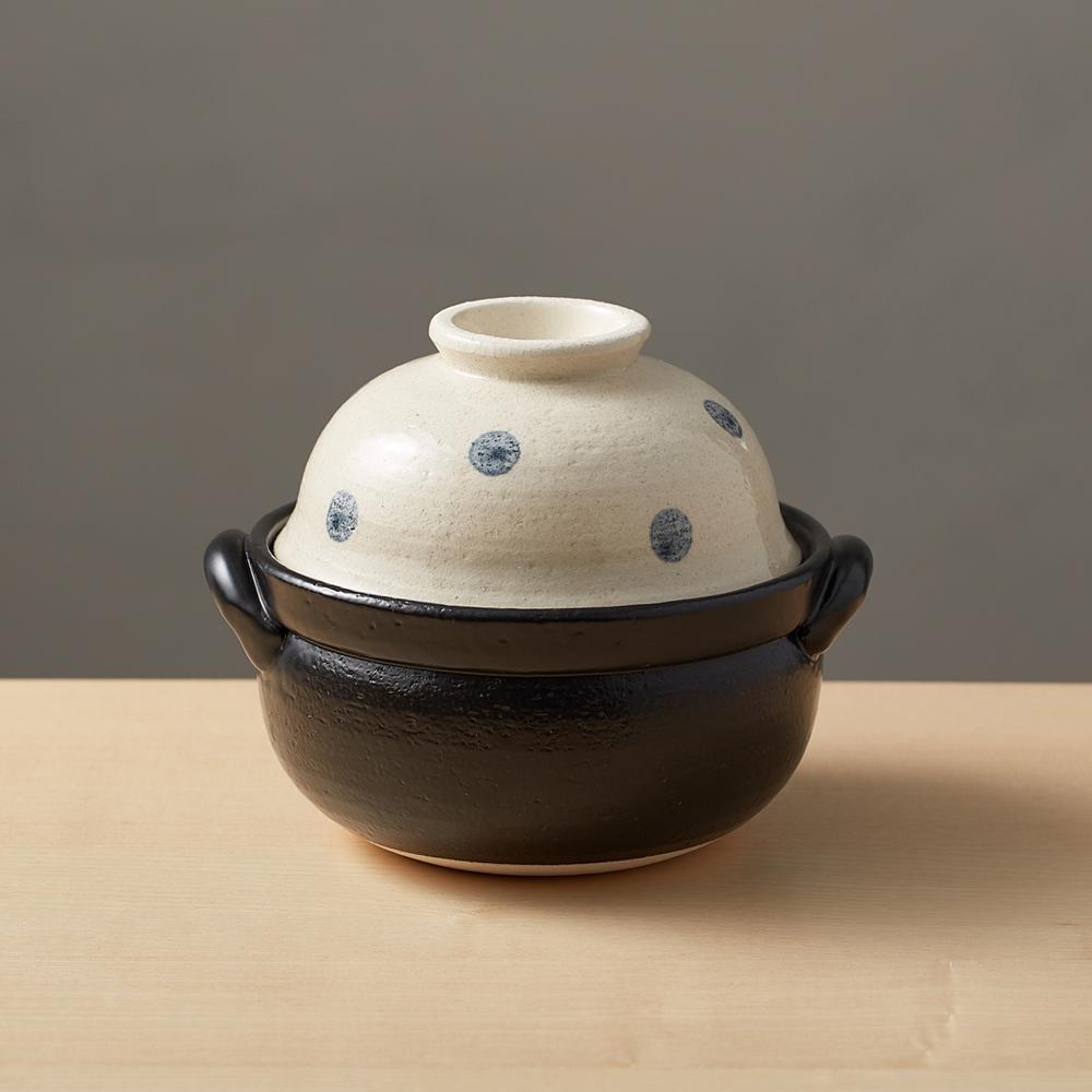 日本萬古燒|兩用蓋碗土鍋-水玉點點(1.1L)