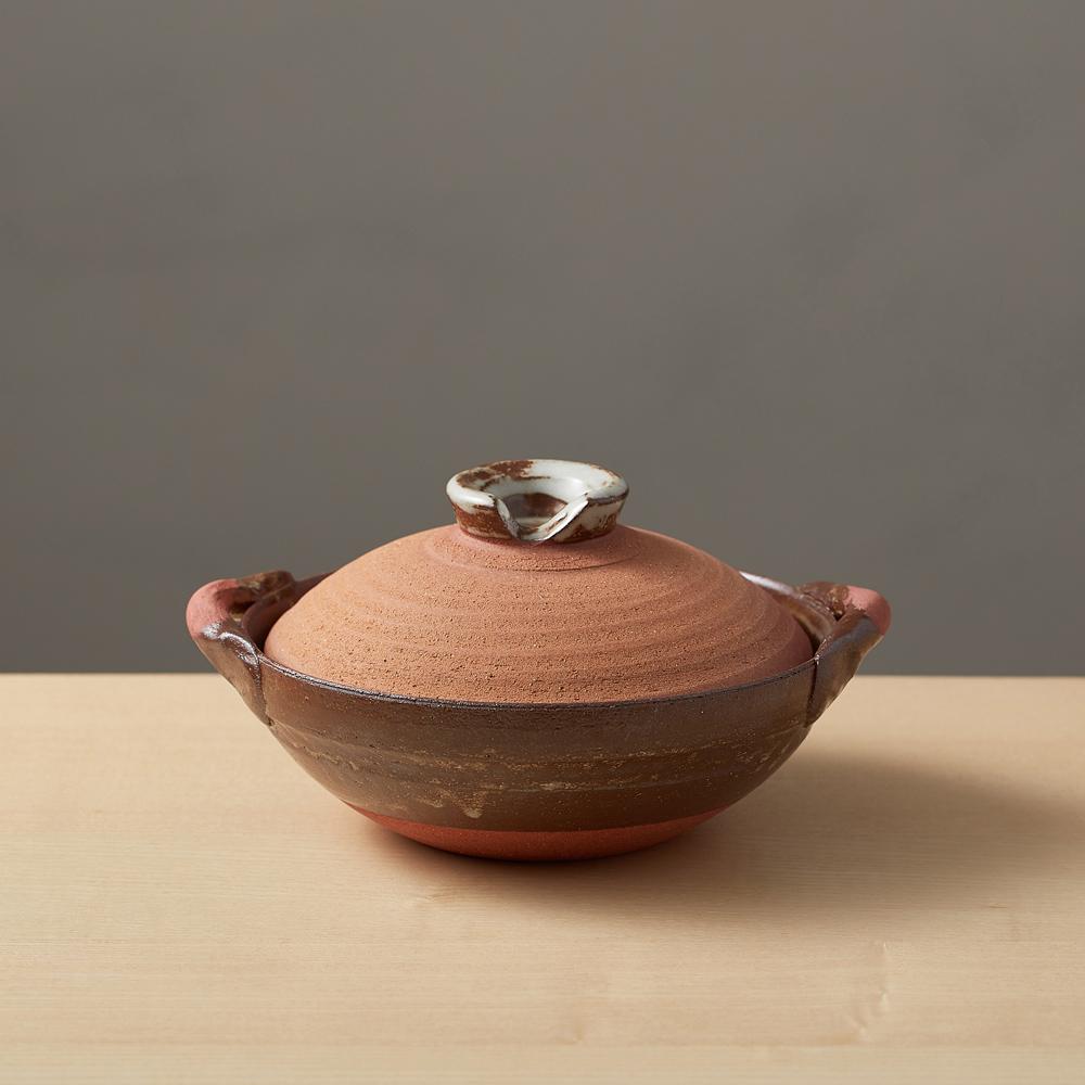 日本萬古燒|和風紅土京鍋6號(0.6L)
