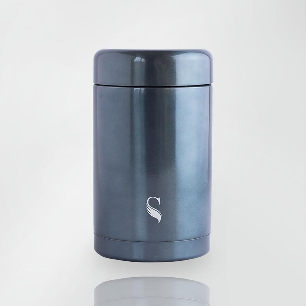 SWANZ|陶瓷保溫食物罐(3色)- 420ml (國際品牌/品質保證)   - 簡約藍
