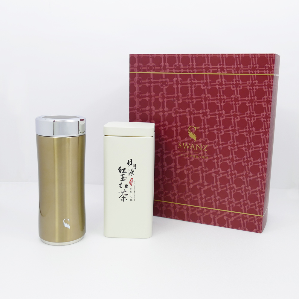 SWANZ|晶粹陶瓷保溫杯禮盒組(2色) - 360ml (國際品牌/品質保證) - 古銅色
