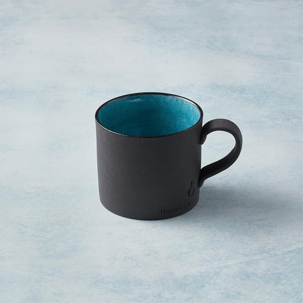 日本KOYO美濃燒 黑陶釉彩馬克杯 - 青綠