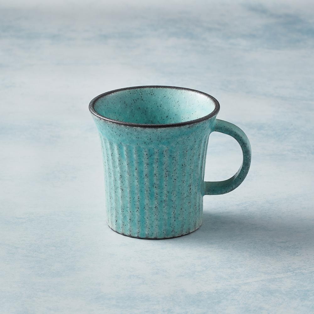 日本KOYO美濃燒|古典雕紋咖啡杯 - 土耳其藍