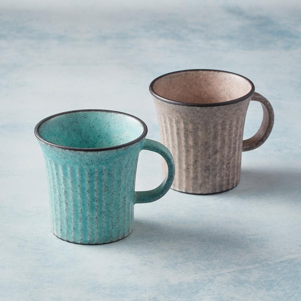日本KOYO美濃燒|古典雕紋咖啡杯 - 對杯組(2件式)