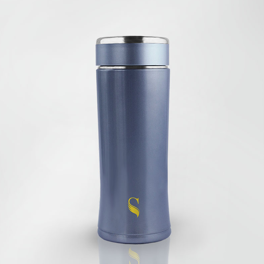 SWANZ 粹鍊陶瓷保溫杯 - 330ml - 藍色 (日本專利/品質保證)