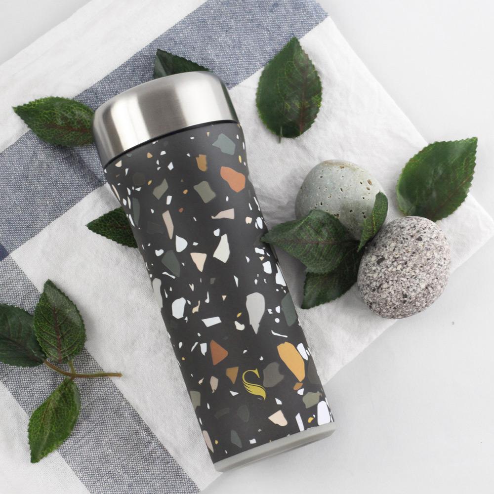 SWANZ|火炬陶瓷保溫杯(設計款)- 430ml - 礫岩石紋