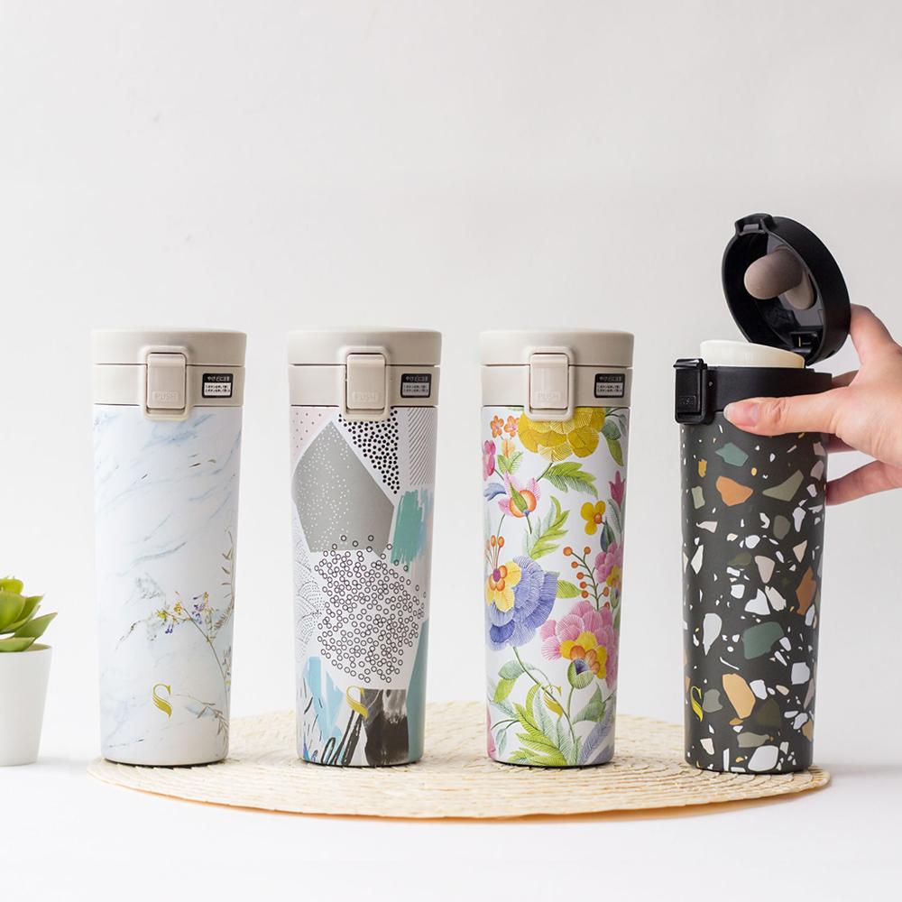 SWANZ|陶瓷保溫輕扣杯(設計款)-390ml (7款任選)