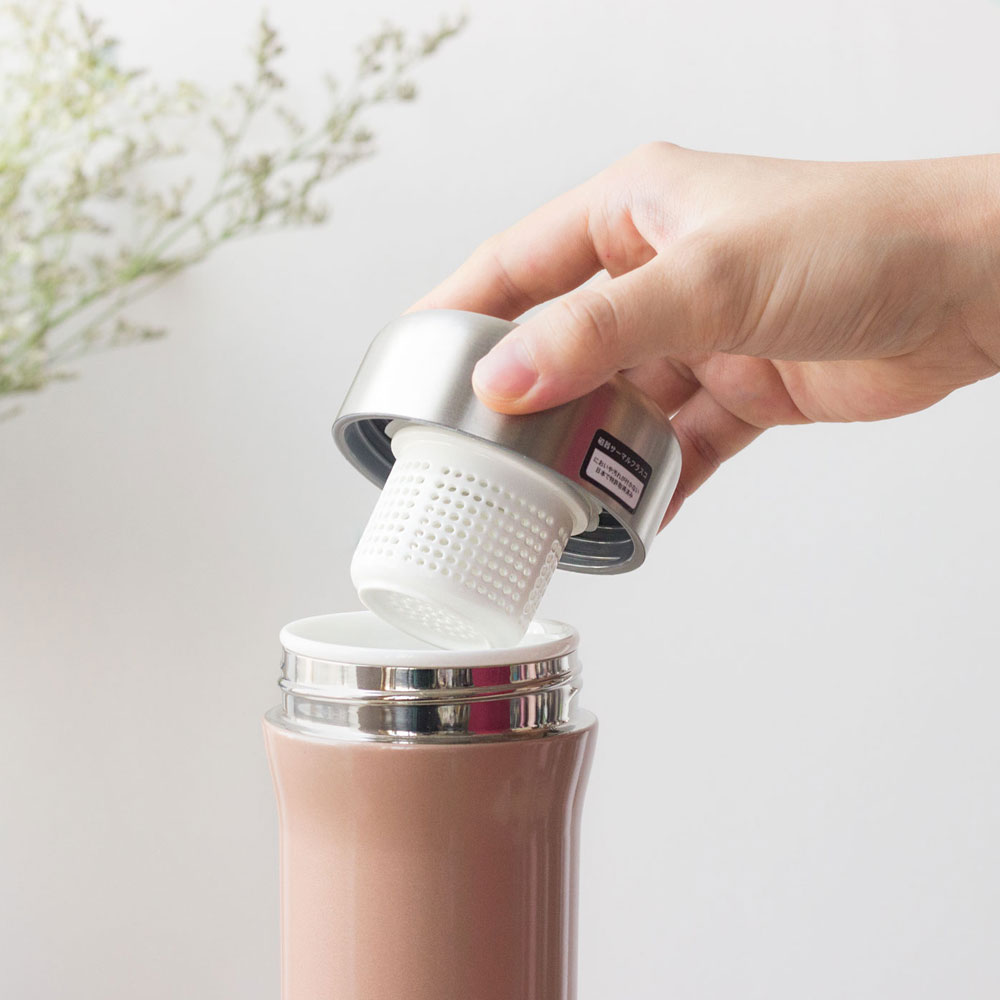 SWANZ 火炬陶瓷保溫杯茶隔矽膠圈組