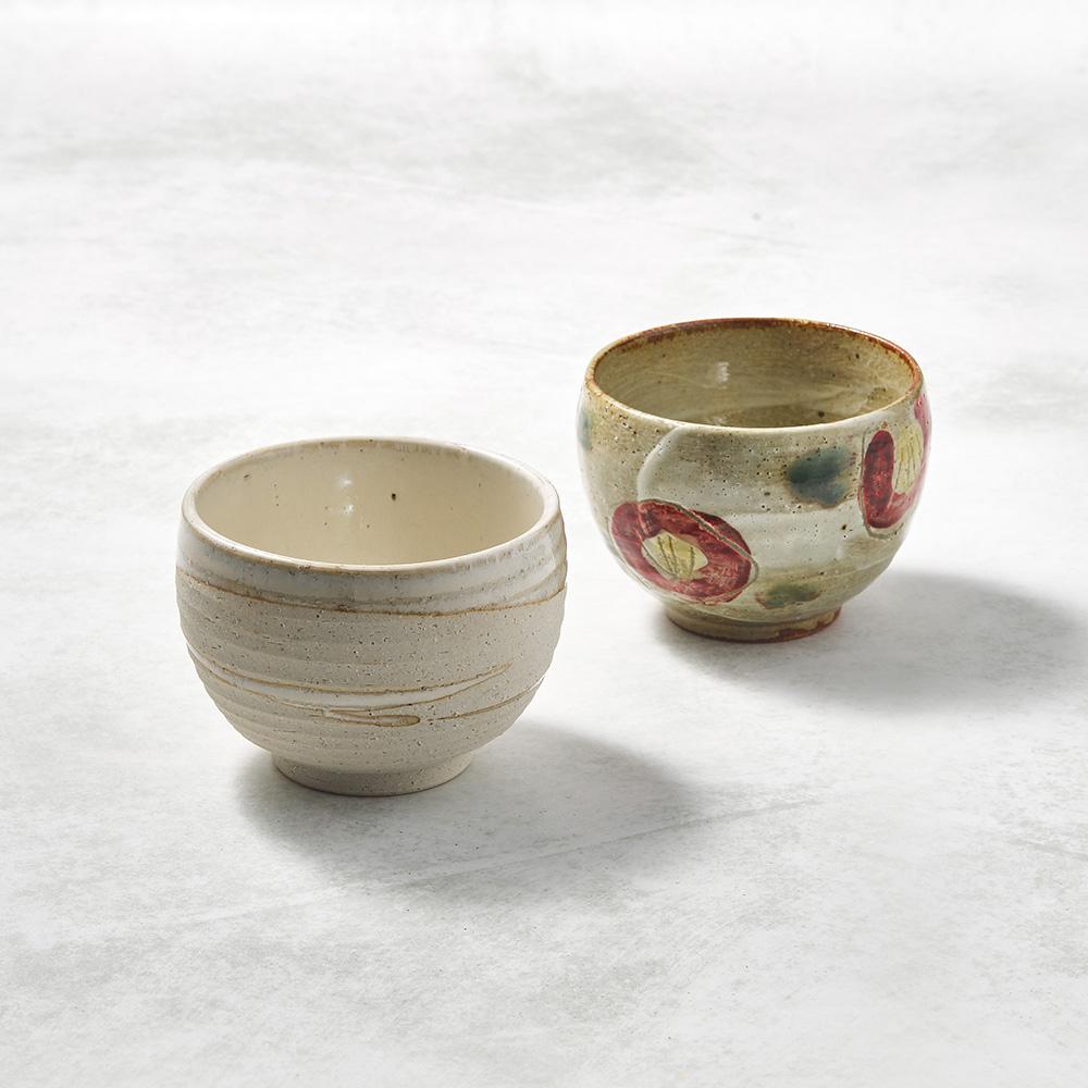 日本KOYO美濃燒|手感和風茶杯 - 山茶對杯組(2件式)