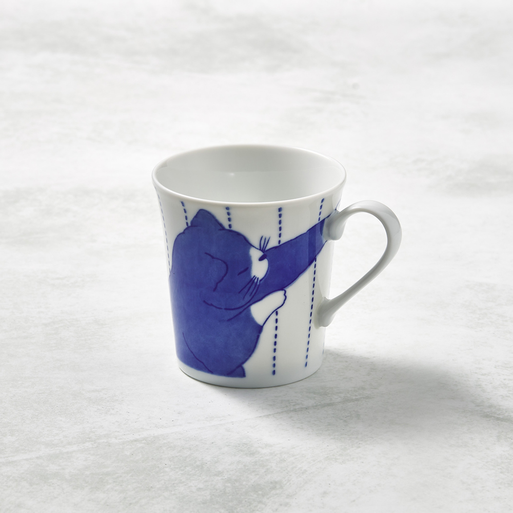 日本澤藍美濃燒|黑貓君馬克杯