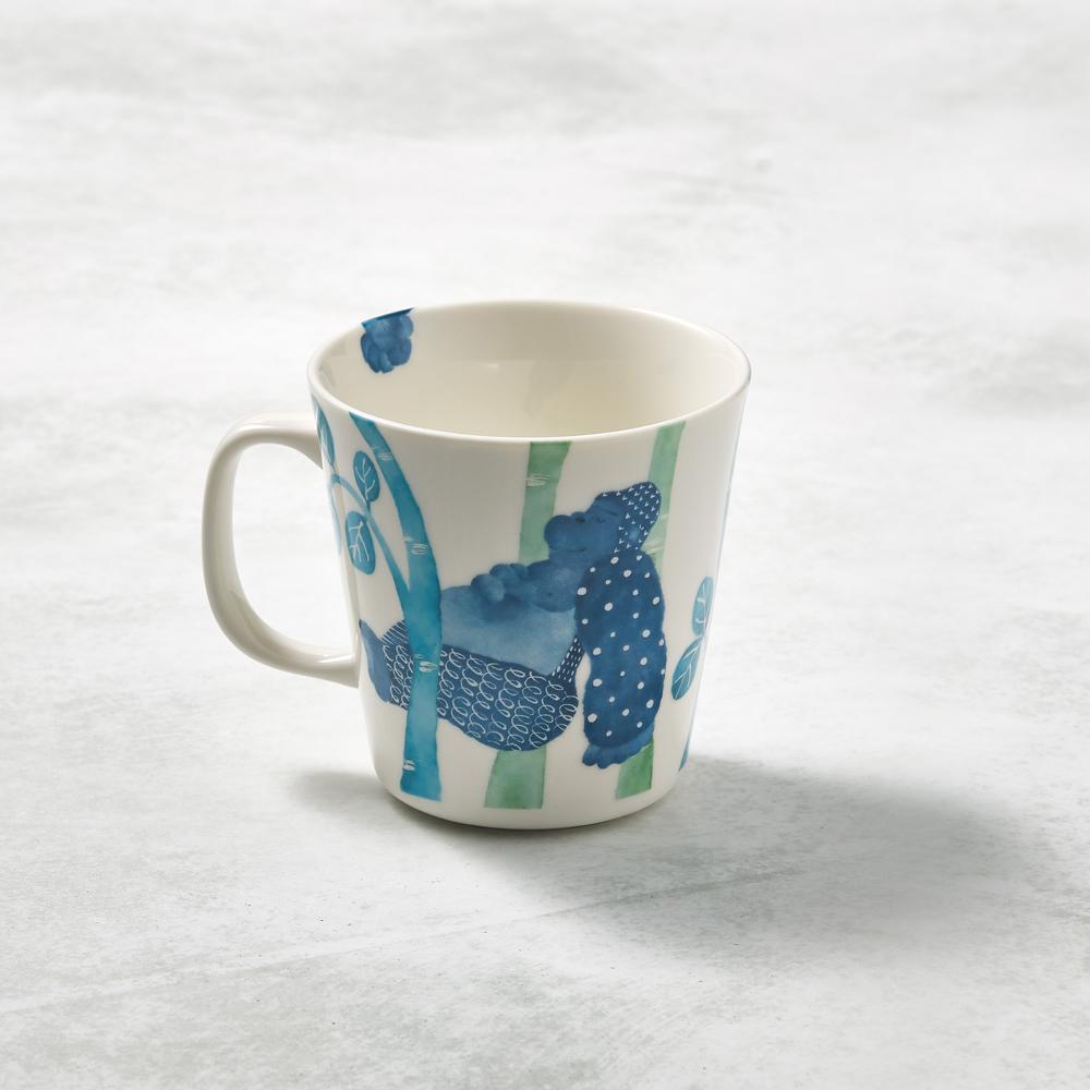 日本澤藍美濃燒|森之中系列馬克杯-睡眼猩猩