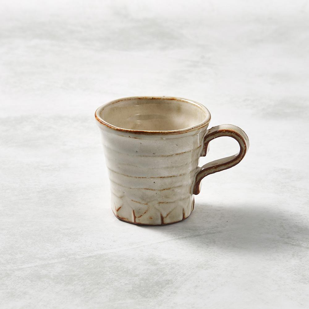 日本KOYO美濃燒|寬口茶杯 - 摩卡白