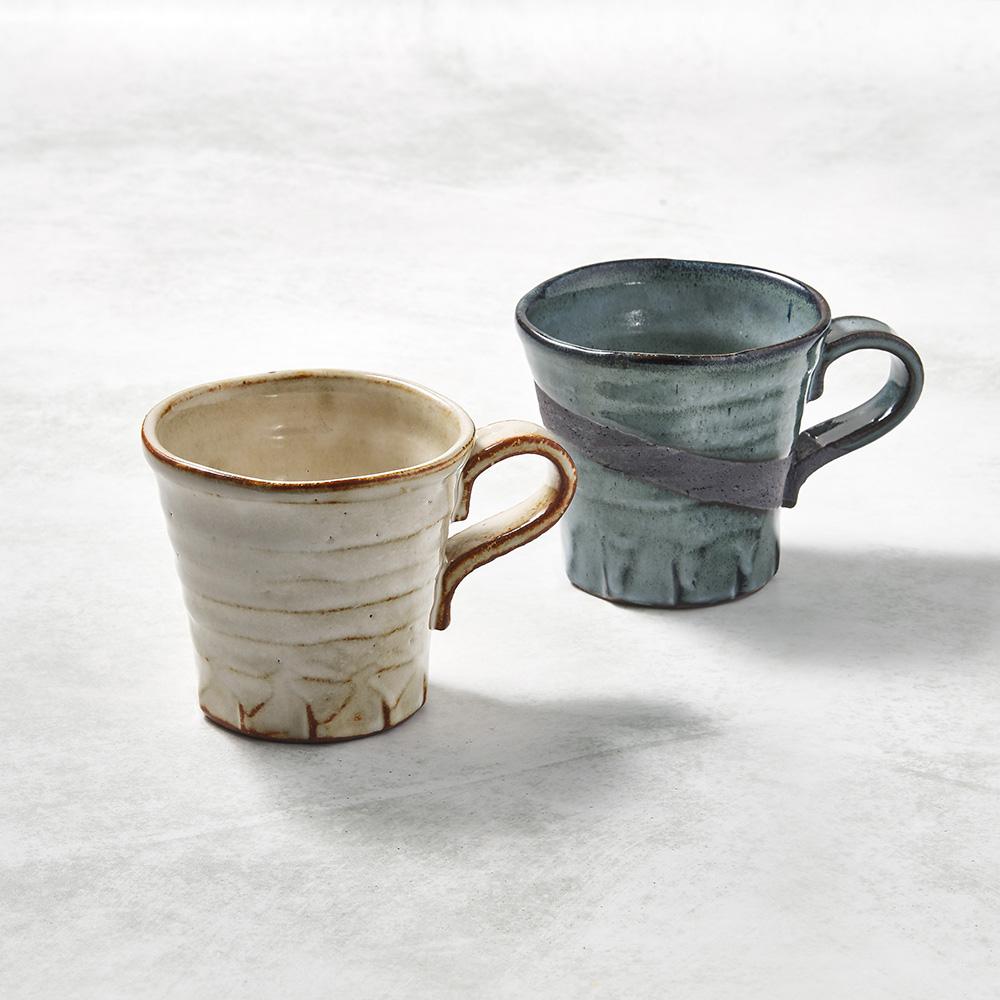 日本KOYO美濃燒|寬口茶杯 - 對杯組(2件式)